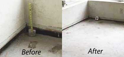 Pressuer Grouting to sure up soil and lift basment floor, offered in osceola fl,lake fl,orange county fl,seminole fl